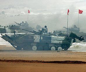 언론 : 중국이 북한과 국경에 군사 장비를 보냈다.