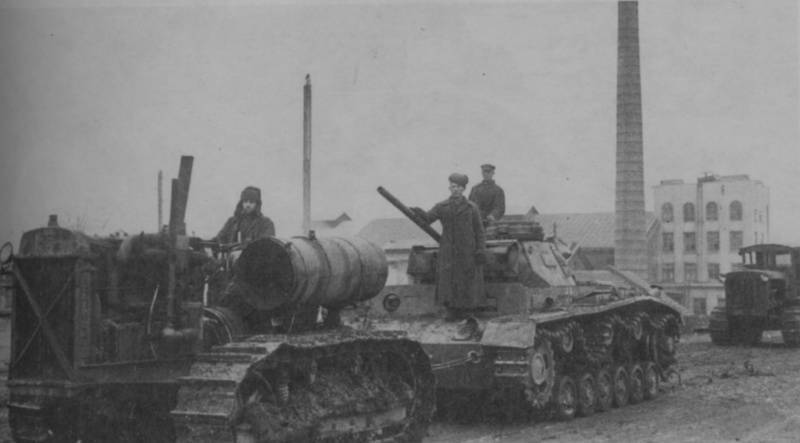 German medium tank T-III. Memo to the Red Army fighter