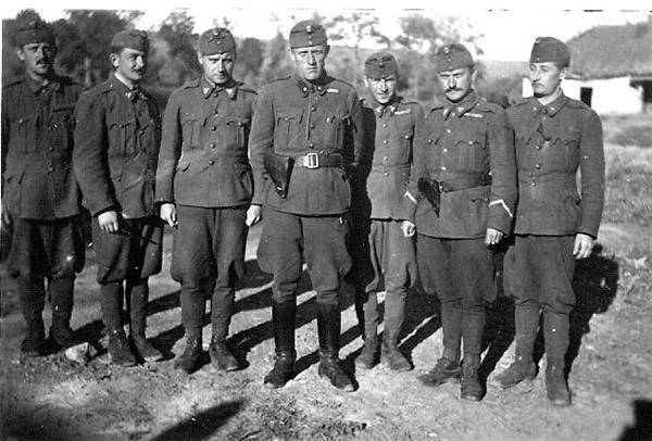Hungarian occupational troops in the Soviet Union