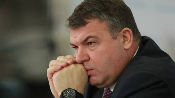 Serdyukov allocated millions for advertising sales of military facilities