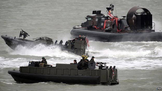 Die größten militärischen Übungen begannen in Großbritannien