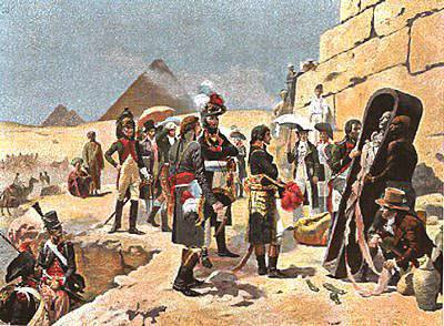 Battle of the pyramids. Egyptian campaign of Bonaparte
