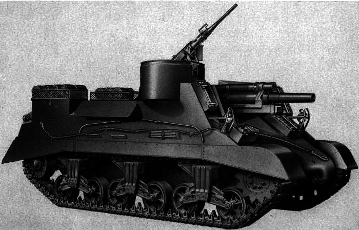 American self-propelled howitzer M37