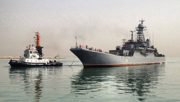 For the first time in history the warship of the Russian Navy arrived in Israeli Haifa