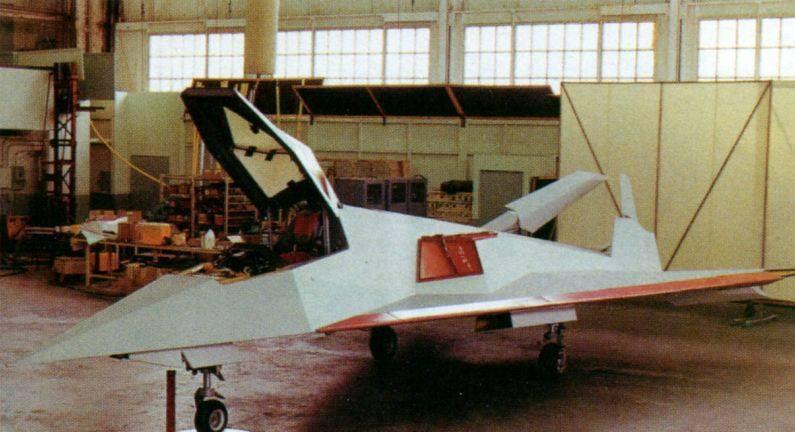 Gli aerei sperimentali americani Lockheed XST hanno blu