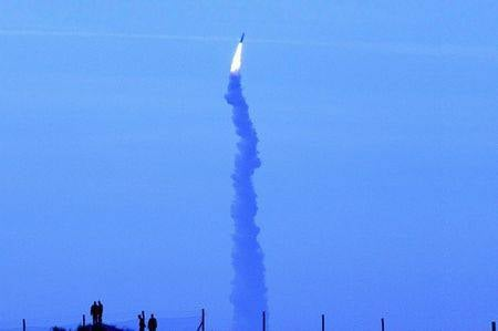 French ballistic missile M-51 exploded after launch