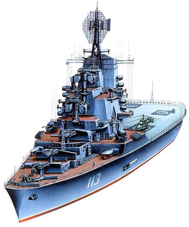 """Marine """"Condors"""": transportadores anti-submarino cruzador-helicóptero do projeto 1123"""