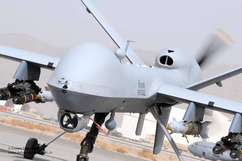 Der britische UAV Reaper kehrte nach Hause zurück