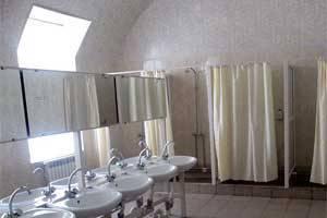 Wash plenty since November. Barracks equip shower cabins