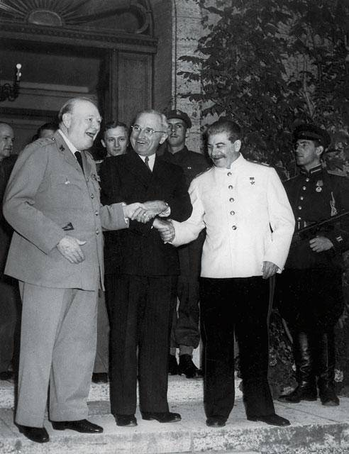 "At the Potsdam Conference, Stalin complained to Churchill and Truman about the ""difficult situation in Russia"" and asked for at least one-twentieth of losses to be compensated. Photo: Interfoto (ITAR-TASS)"