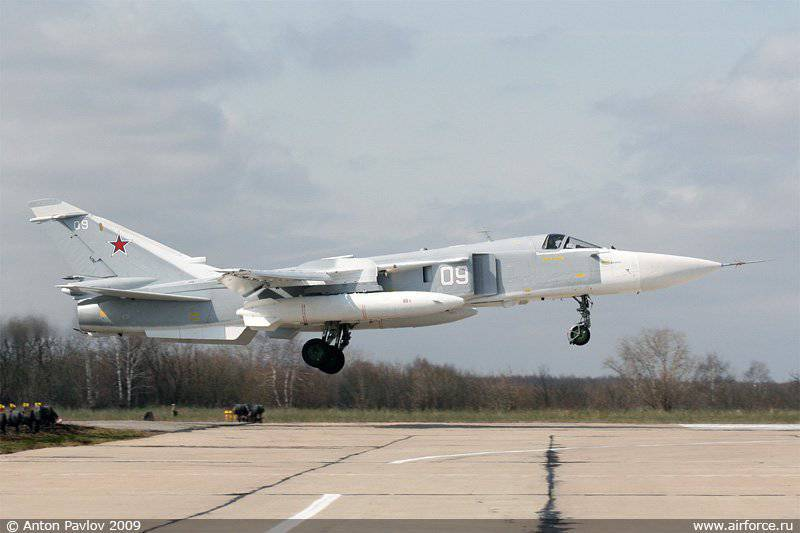 Su-24 will equip the sighting and navigation complex Hephaestus
