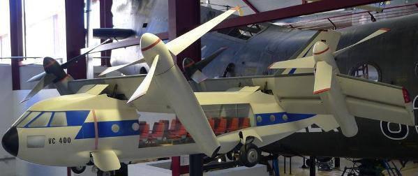Projets allemands convertoplanov VC 400 et VC 500