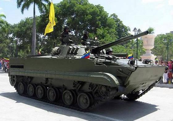 Venezuela Silahlı Kuvvetleri'nin 31-I mekanize tuğrası BMP-3 ve BTR-80'i aldı
