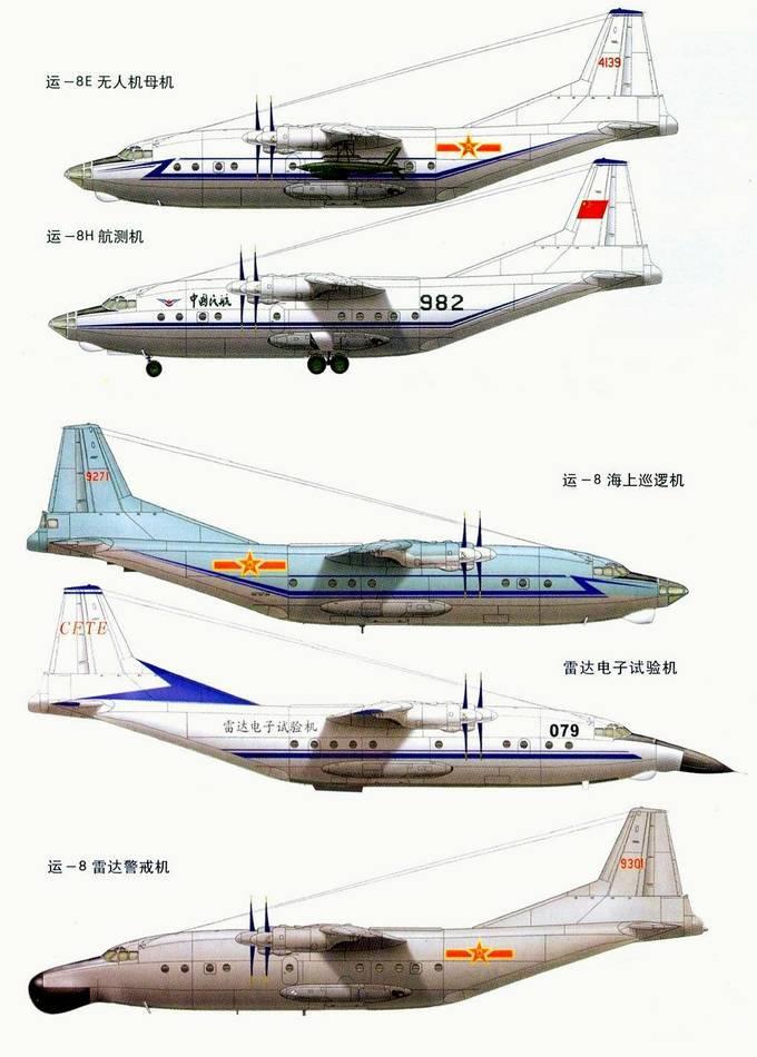 Shaanxi Y-8 aéronefs et modifications