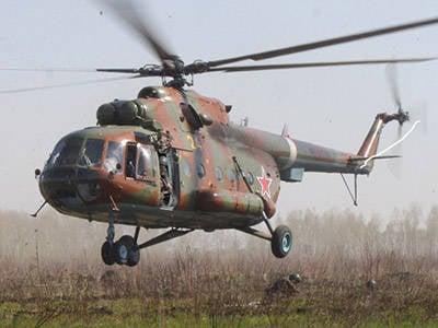 """航空中队和特种部队分队""""台风""""的联合演习"""