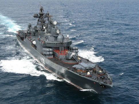 Sea aerodrome platform as a base for creating universal warships