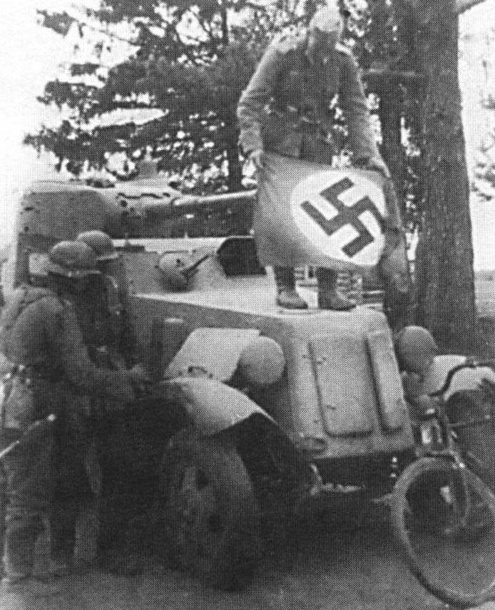 Trophy armored vehicles Wehrmacht. the USSR