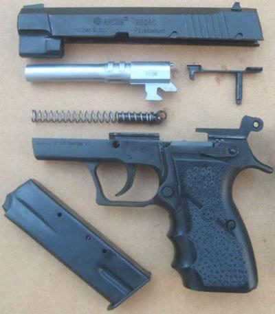 Pistolas Arcus 98DA e Arcus 98DAC