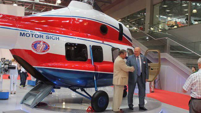 Motor Sich Company apresenta helicóptero ucraniano na Rússia