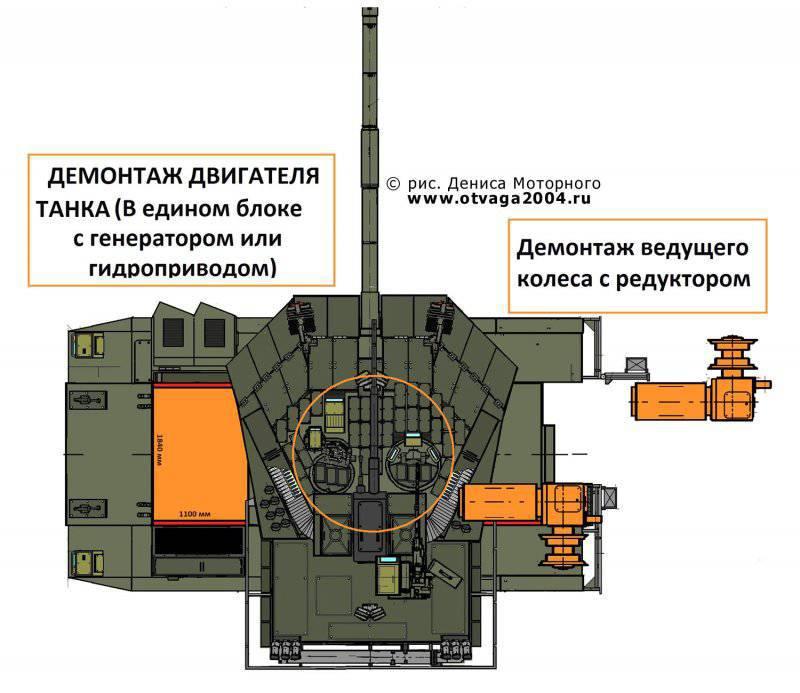 Основной боевой танк Т-100-140 с повышенными боевыми характеристиками и усиленной защитой экипажа