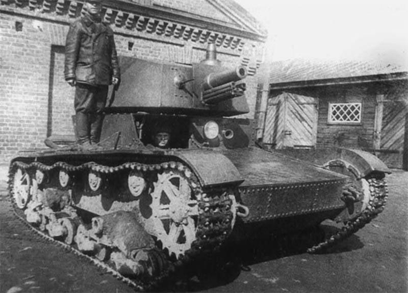 Tanques de artillería de los soviéticos.