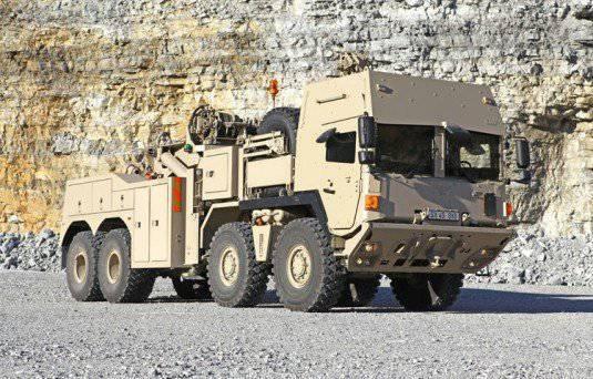 Le Danemark a commandé de lourds véhicules de récupération tactiques à RMMV