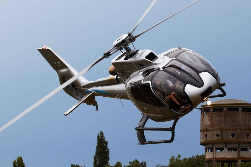 Eurocopter Rusya'da yeni bir Eurocopter EC130 T2 helikopteri sundu