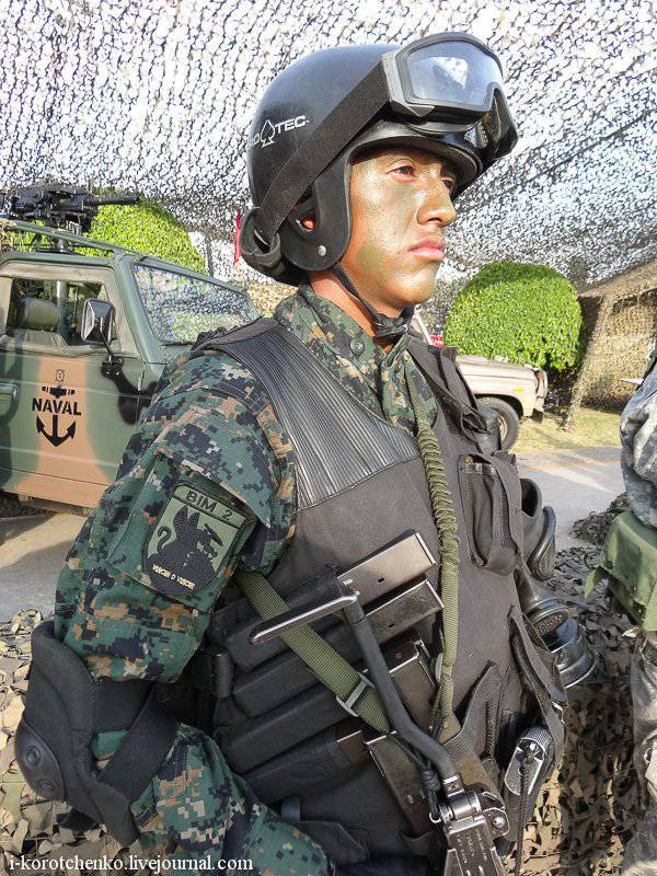 Equipping and arming the special forces of the Peruvian army