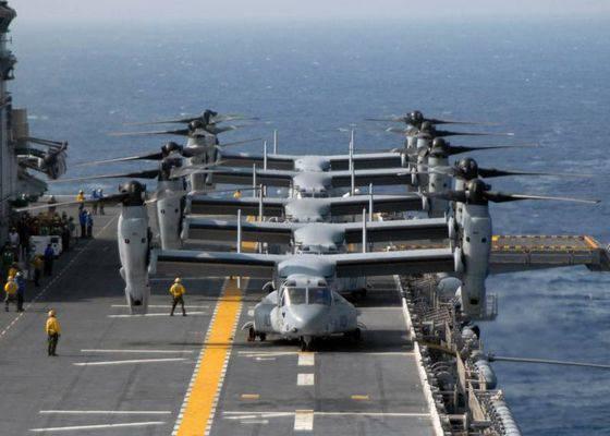 美国海军签署了一份供应Osprey潜艇V-22的长期合同