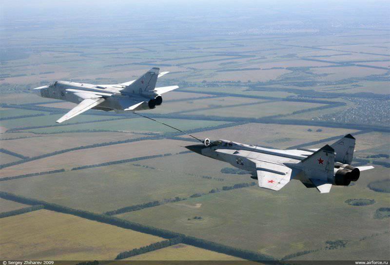 ロシアの航空は翼に乗っています