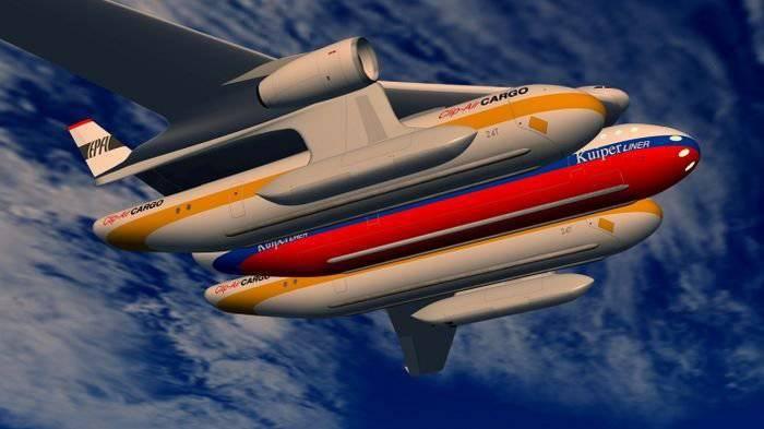 将飞机与火车相结合的概念:Clip-Air