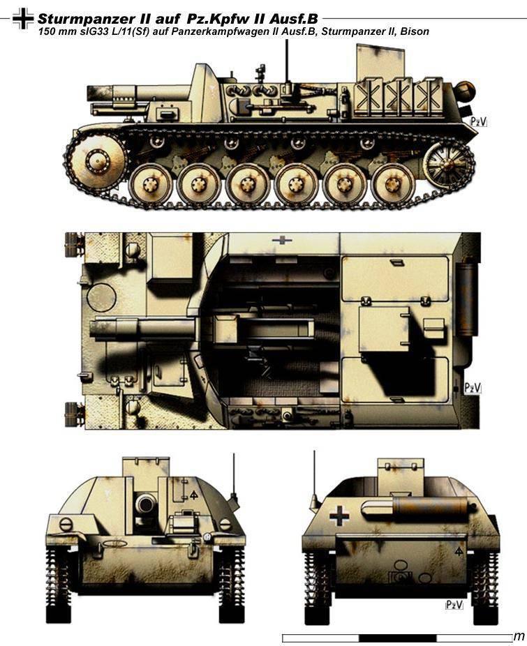 """असॉल्ट टैंक"": SAU Sturmpanzer II"