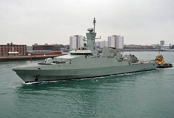"The company ""BAE Systems"" gave the Oman Navy a corvette of the project ""Cariff"""