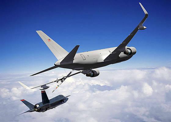 波音公司开始为美国空军组装第一辆KC-46油轮