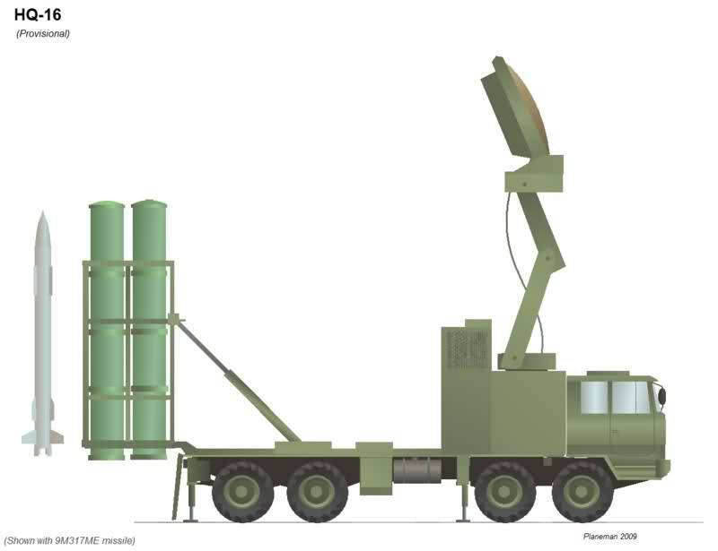 Anti-aircraft missile system HQ-16