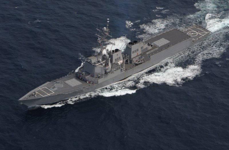 Modern destroyers Arleigh Burke (USA) and Type 45 (United Kingdom)