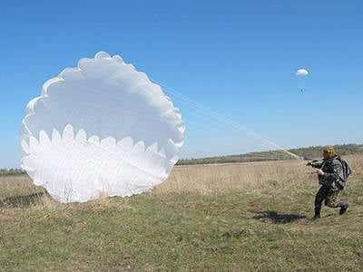 New Ukrainian parachutes worked flawlessly