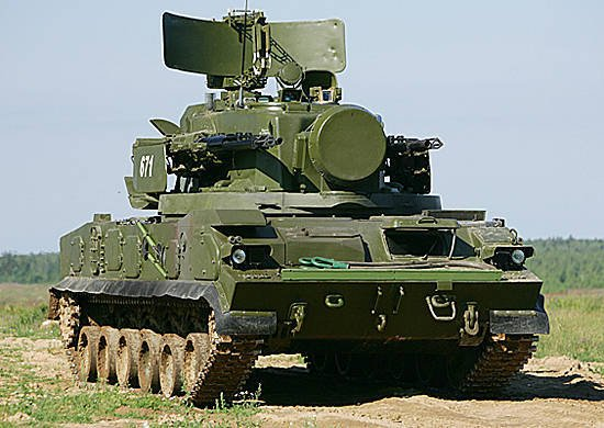 In the Southern Military District conducted a large-scale field output units of military air defense