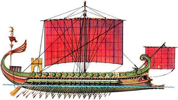 Flota romana Tipo de nave y diseño
