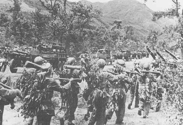 Voluntarios chinos en la Guerra de Corea.