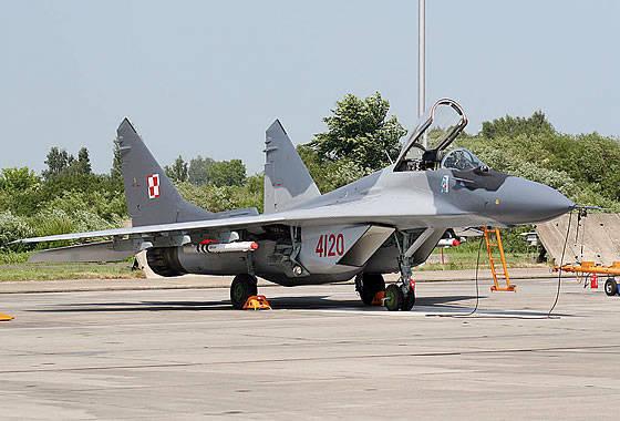 Die polnische Luftwaffe erhielt den ersten verbesserten MiG-29A-Jäger