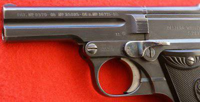 Pistol with improper automation system Steyr M1908