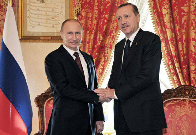 Putin and Erdogan agreed on cooperation of the highest level