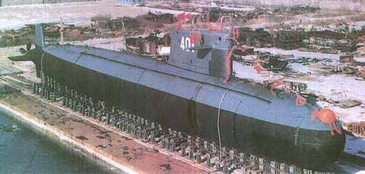 """The submarine """"Han"""" - the firstborn of the Chinese nuclear submarine fleet"""