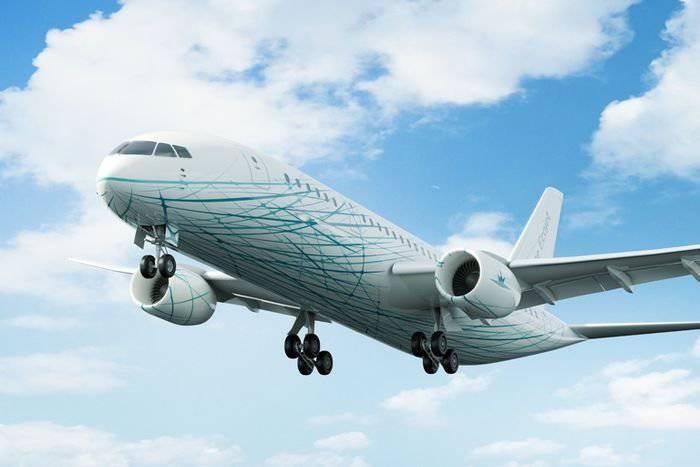 러시아에서는 타원형 항공기 인 프리깃에 제트 (Frigate Ecojet)