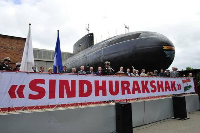 Submarino de la Armada india de fabricación rusa se hundió en Mumbai