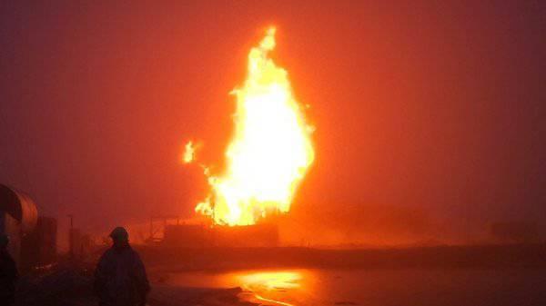 Gunners beseitigte ein Feuer an einer Gasquelle mit einem gezielten Schuss.
