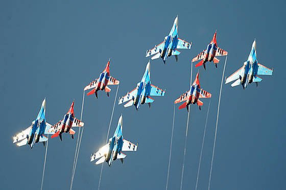 Russia ranks first in terms of the number of fighters set for export in 2009-2012.