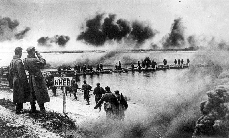 To the 70 anniversary of the Battle of the Dnieper. Soviet offensive on the left bank