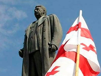 Denkmal für Joseph Stalin in Telavi (Georgien) eröffnet